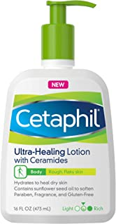 Cetaphil Ultra-Healing Lotion with Ceramides for Dry, Rough, Flaky Skin, 16 oz. Bottle