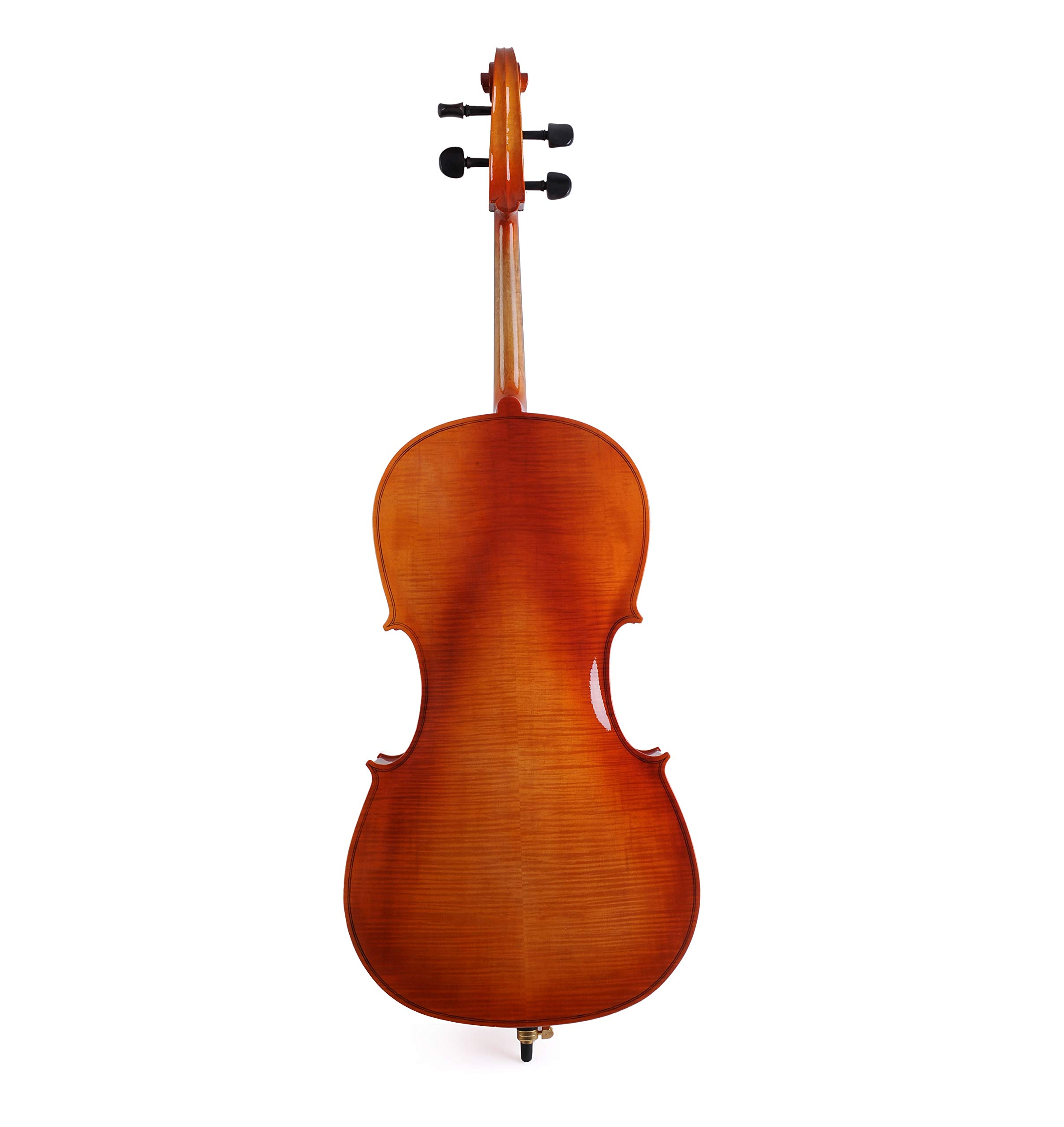Gloss Red Brown ADM 4//4 Full Size Attractive Flamed Cello Outfit