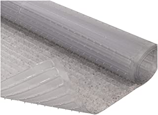 Resilia - Clear Vinyl Plastic Floor Runner/Protector for Deep Pile Carpet - Non-Skid Decorative Pattern, (27 Inches Wide x...