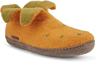 Felted Wool Slippers for Women and Men - Hide or Ruber Sole - Unisex - Fairtrade Peter Pan Boot