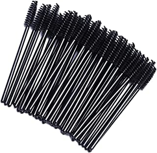 100pcs Disposable Mascara Wands Eyelash Brushes for Cosmetic Eyelash Applicator Eyelash Extensions and Lifting, Black