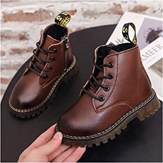 YOUPIN Fashion Autumn Girls Boys Boot Vintage Shoes Kids Children Baby PU Leather Martin Boots Shoes Casual Boot S11408 (C...