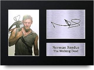 HWC Trading Norman Reedus A4 Sin Marco Regalo De Visualización De Fotos De Impresión De Imagen Impresa Autógrafo Firmado por The Walking Dead Ventiladores De Programa De TV