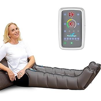 Venen Engel ® 6 Dispositivo di massaggio mobile con gambali, funzionamento a batteria, 6 camere d'aria disattivabili, pressione e durata facilmente regolabili