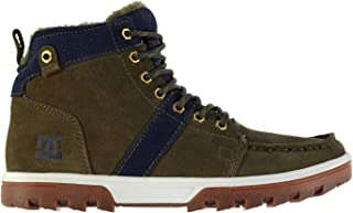 DC Shoes Woodland Ankle Boots Mens Khaki/Navy Shoes Footwear