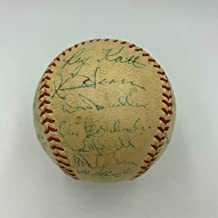 1954 New York Giants World Series Champs Team Signed Baseball Willie Mays - PSA/DNA Certified - Autographed Baseballs