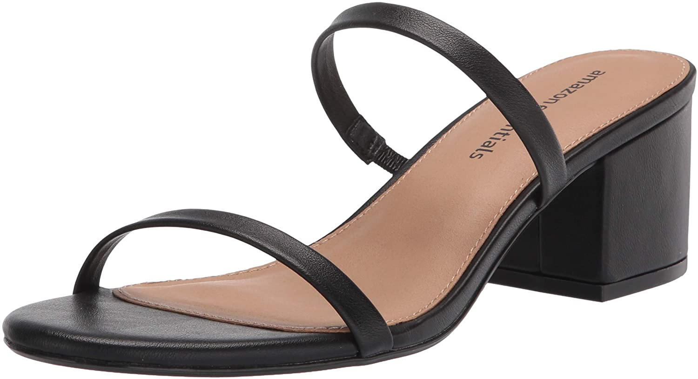 Amazon Essentials Women's Thin Two Strap Heeled Slide Sandal