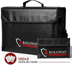 ROLOWAY Large (17 x 12 x 5.8 inches) Fireproof Bag, XL Fireproof Document Bags with Bonus..