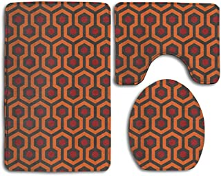 3 Piece Luxurious Memory Foam The Shining Overlook Hotel Tub-Shower Bath Rug Set Non Skid Rubber Backing Quick Dry - Absorbent Bathroom Carpet U-Shaped Bath Mats & Lid Cover
