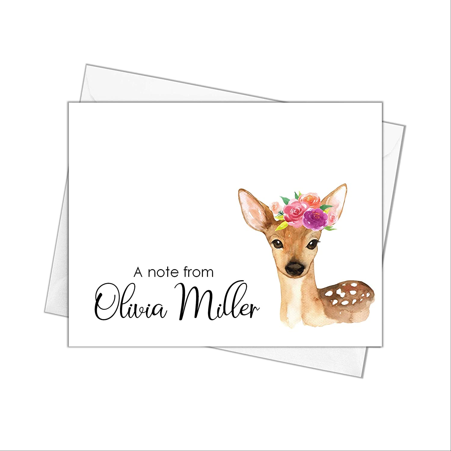 Deer Note New sales Cards with Tucson Mall Envelopes Stationery Personalized Car