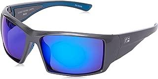 Gone Fishing Men's Mahi Polarized Iridium Wrap Sunglasses