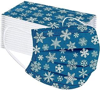 Geilisungren 50 pezzi Unisex Adulto Copertura 3-strati traspirante che copre Fiocco di neve di Natale Stampa di renne Atti...