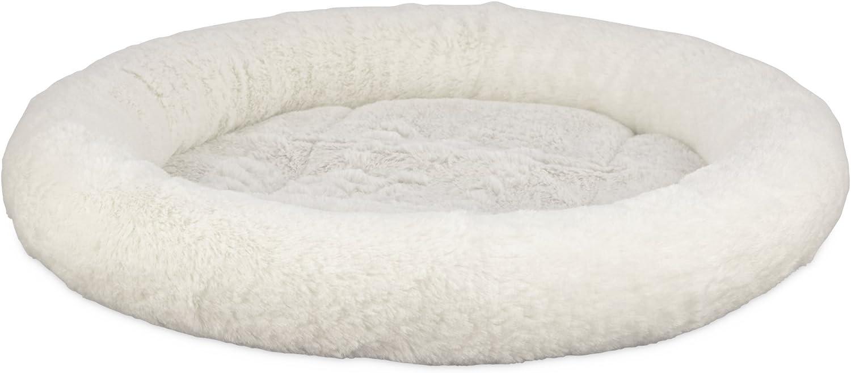 Harmony Oval Cat Bed in Cream, 17  L x 14  W