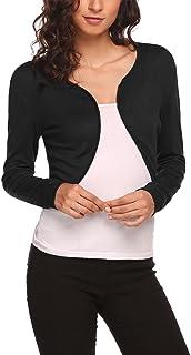 Hotouch Women Long Sleeve Bolero Shrug Knit Cropped Knitwear Cardigan Sweater Shrug Bolero Jackets