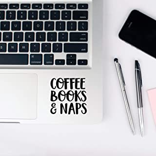 Vinyl Wall Art Decal - Coffee Books and Naps - 3