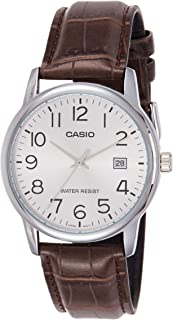 Casio Men's Dial Leather Band Watch - MTP-V002L-7B2UDF