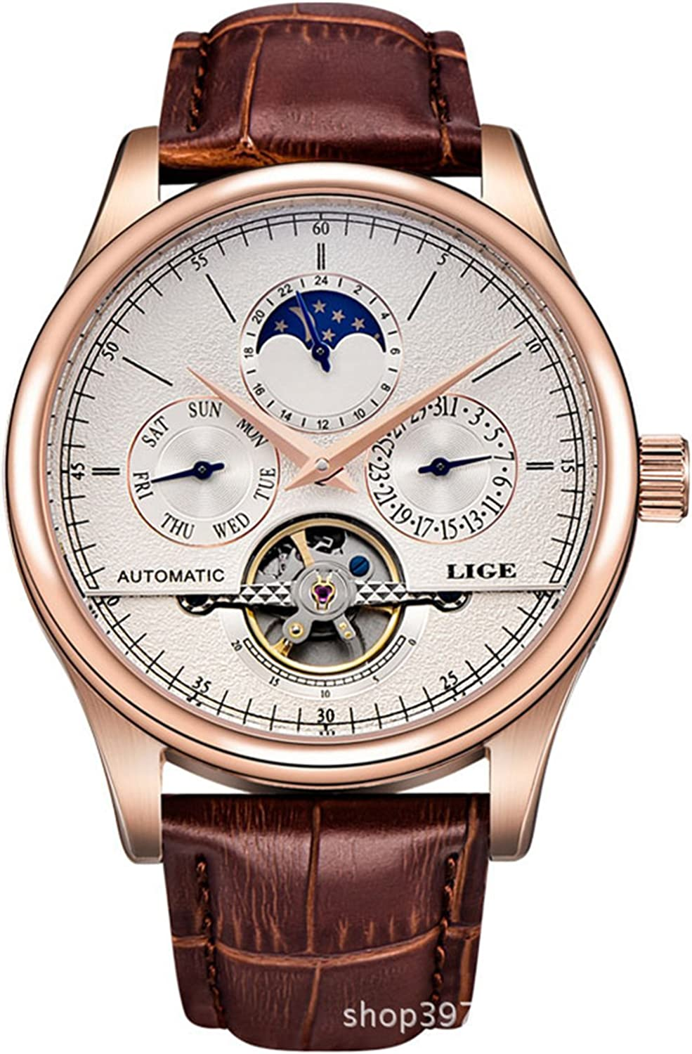 Watch Max 79% OFF Luxury Men's Multifunction with Automatic In stock Self-Wind