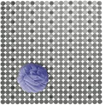 mDesign Stall Sized Soft Plastic Non-Slip Bath Mat for Bathroom Shower or Tub - Strong Suction Hold - Use in Master, Gues...
