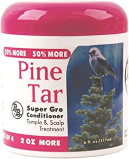 Bronner Brothers Pine Tar Super Gro Conditioner, 6 oz (Pack of 4)