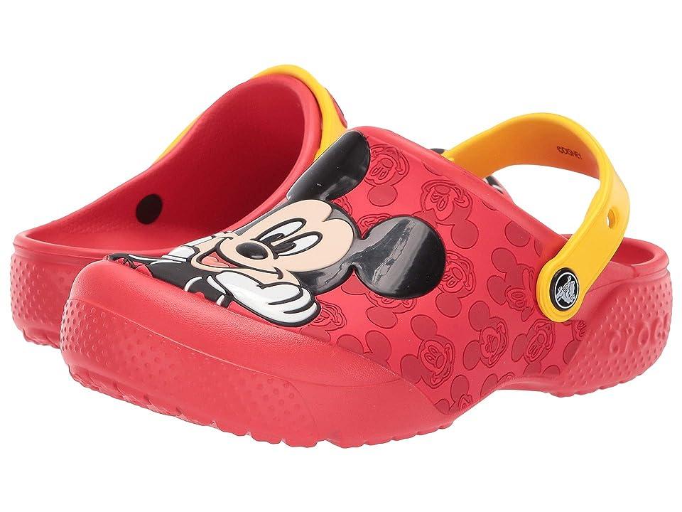 Crocs Kids Fun Lab Mickey OL Clog (Toddler/Little Kid) (Flame) Kids Shoes