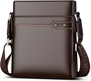 Men's Genuine Leather Shoulder Bag, Business Crossbody Bag for Men