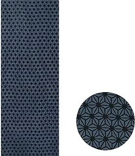 Asa no Ha Art Tenugui-Traditional Japanese Patterns-1 Hemp Leaves Grayish Blue