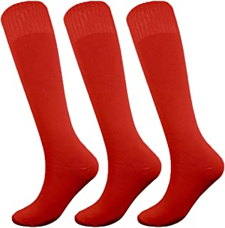 Knee High Long Sports Socks Unisex Multicolor 3/6/12 Pairs