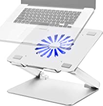 SOUNDANCE Laptop Cooling Pad with Low-Noise Fan and 3.0 USB Hubs, Ventilated Laptop Cooler Prevent Overheating, Ergonomic ...