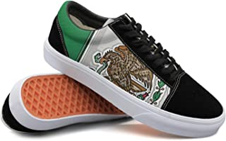 Armsttm Women Skate Shoes Mexico Flag Classic Suede Sneaker