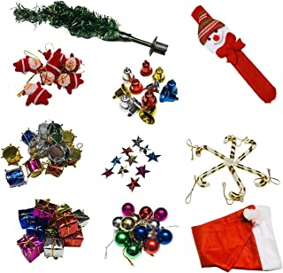 Kriwin Artificial Christmas Tree And Christmas Decorations Assorted, Santa Cap & Santa Wrist Band (Green, 1 Christmas Tree...
