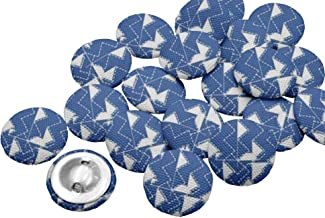 IBA Indianbeautifulart Decorative Buttons for Sewing Crafting Printed Fabric1 Inch Buttons for Sewing Pack of 50