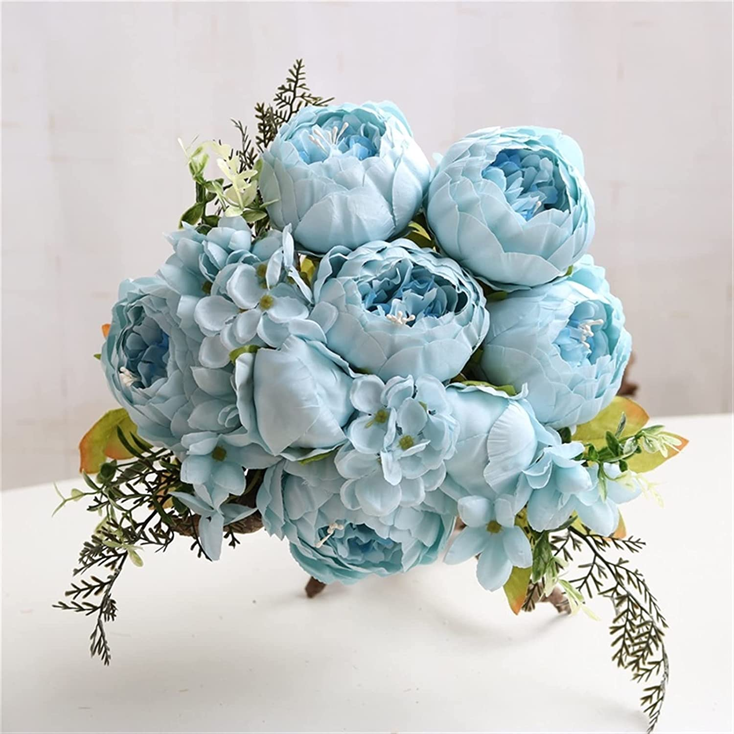 Fake Flower Free shipping anywhere in the nation 13 Fork Max 57% OFF 1Bundle Silk Bouquet Peony Decoration Home A