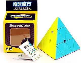 LiangCuber QiYi Qiming Pyramid Stickerless Magic Cube 3x3 Pyramid MoFangGe Speed Cube Puzzle