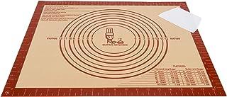 SUPER KITCHEN Tapis à pâtisserie en Silicone antidérapant (Rouge, 50 × 40 cm)