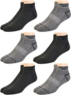 Mens' Breathable Cushioned Comfort Quarter Cut Basic Socks (6 Pack)