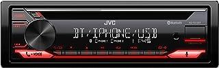 JVC KD T812BT CD Receiver mit BT Freisprecheinrichtung (Alexa Built in, Hochleistungstuner, Soundprozessor, USB, AUX, Spotify Control, 4 x 50 Watt, Tastenbeleuchtung rot)