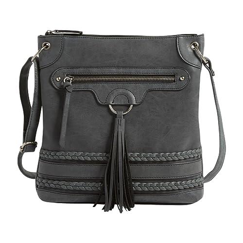 a7846ae6aa Maurices Women s Tassel Braid Crossbody Bag