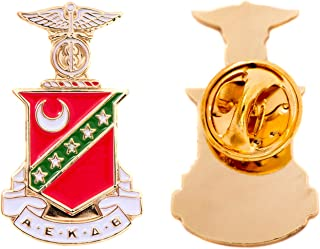 Kappa Sigma Gold Fraternity Crest Lapel Pin Enamel Greek Formal Wear Blazer Jacket Kappa Sig (Crest Pin)