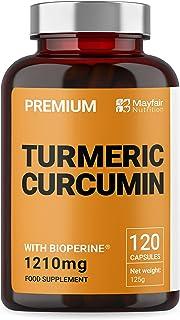 comprar comparacion Cúrcuma Mayfair Nutrition con BioPerine | Cápsulas veganas de alta potencia de 1210mg | Extracto de Pimienta negra de prim...
