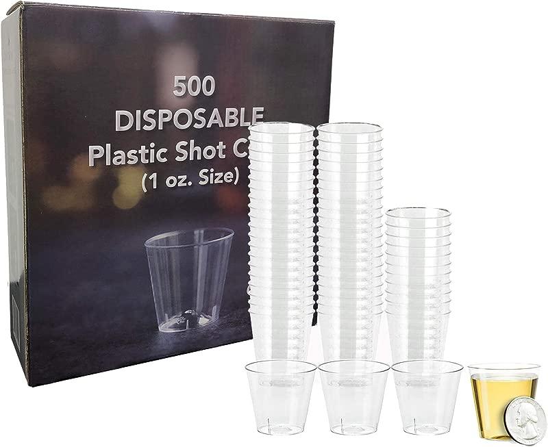 Select Settings 500 Pc Disposable Plastic Shot Glasses Size 1 Oz Great For Jello Shots