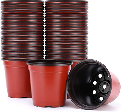 discount VIVOSUN 50pcs new arrival 6 outlet online sale Inch Planter Nursery Pots, Plastic Pots for Flower Seedling outlet online sale