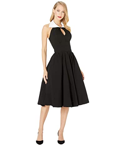 Unique Vintage Collared Dress (Black/White) Women