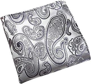a8e5729dc6711 MENDENG Men Classic Red Paisley Pocket Square Wedding Party Hanky  Handkerchief