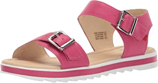 MARC JOSEPH NEW YORK Unisex-Child Kids Boys/Girls Genuine Leather Made in Brazil Buckle Sandal