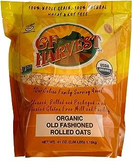 GF Harvest Gluten Free Certified Organic Rolled Oats, Non GMO, 41oz Bag