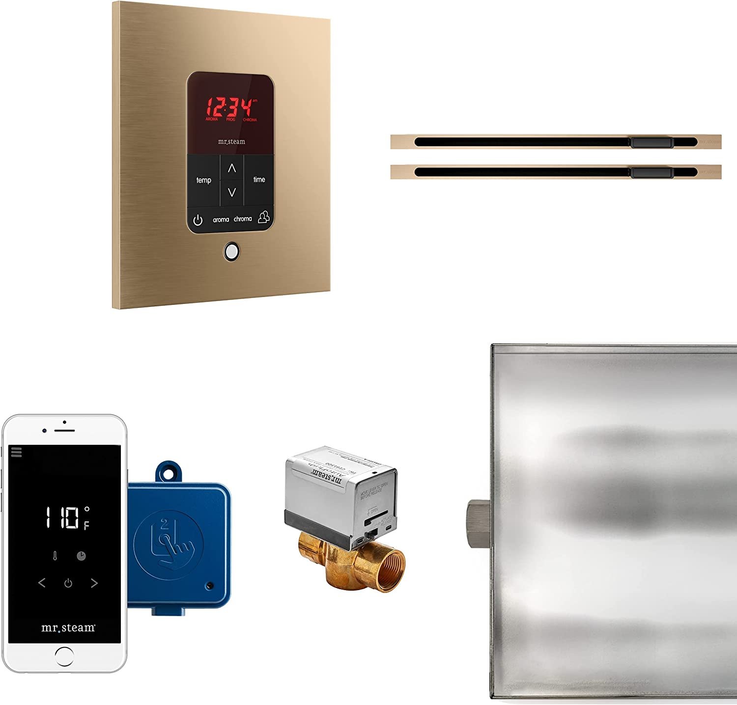 MrSteam Butler Max New Orleans Max 41% OFF Mall Linear Package Brushed Square Bronze Control