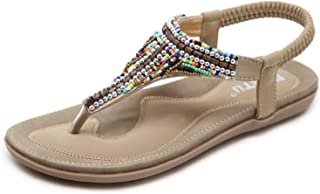 Bohemian Glitter Summer Flat Sandals Prime Thongs Flip Flop Shoes