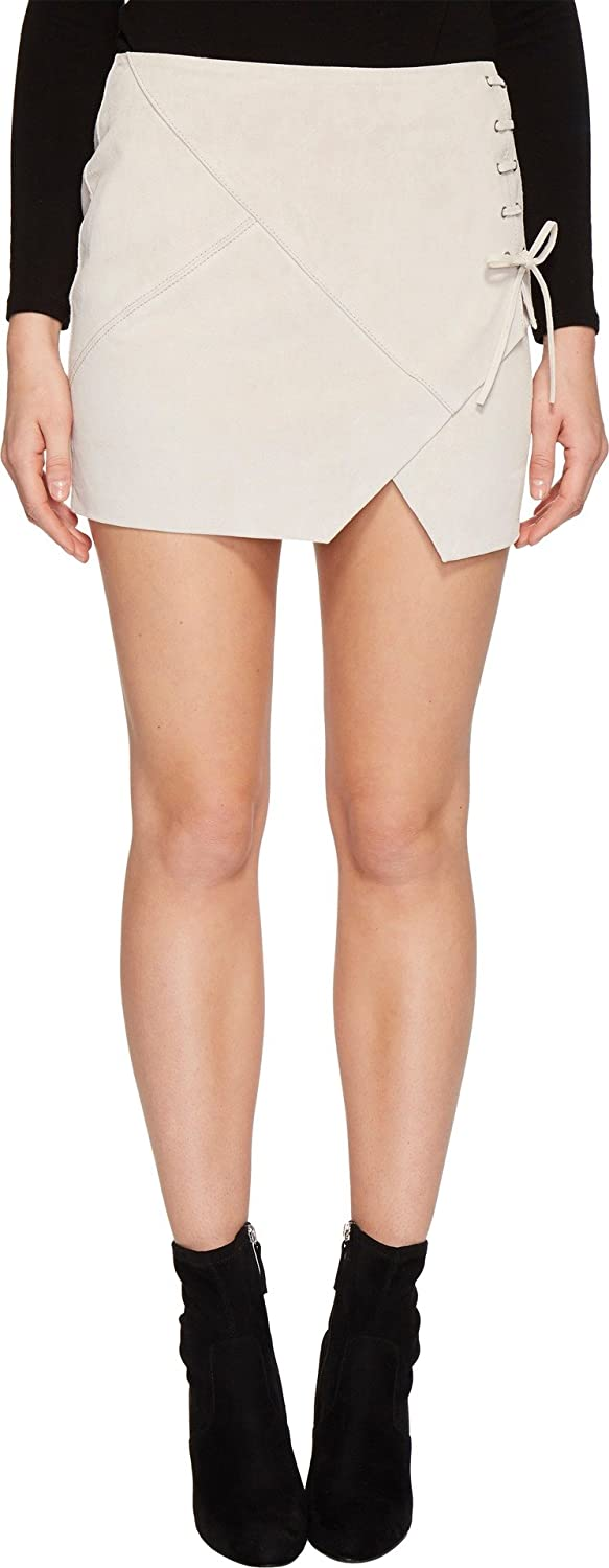 [BLANKNYC] Blank NYC Womens Real Suede Mini Skirt With Lacing Detail In Blondie