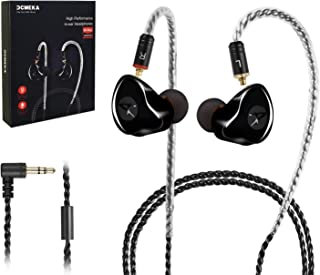 in-Ear Monitors, [Newest Updated Version] Wired Earbuds Headphones/Earphones/Headset Dual Drivers with MMCX Detachable Cables, Noise-Isolating Sweatproof Earphones HiFi Stereo (Black,No Mic)