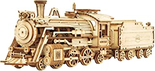 Locomotive Prime Steam Express Wooden 3D Puzzle - Model Building Kit for Adult Hobby and STEM Project for Teenagers at Home